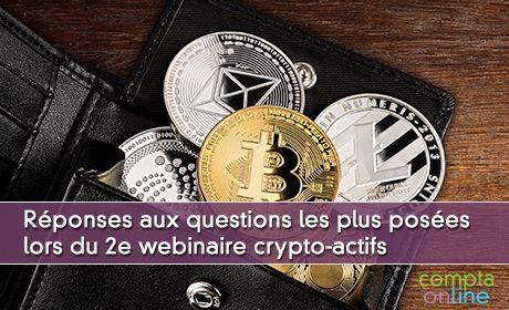 Réponses aux questions les plus posées lors du 2e webinaire crypto-actifs