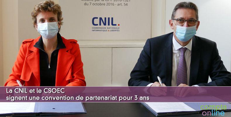La CNIL et le CSOEC signent une convention de partenariat pour trois ans
