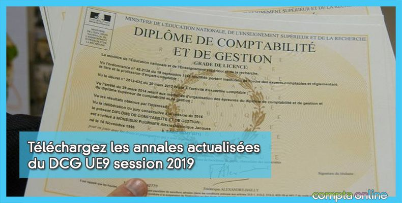 Annales DCG UE9 Comptabilité