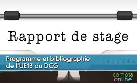 Programme et bibliographie de l'UE13 du DCG