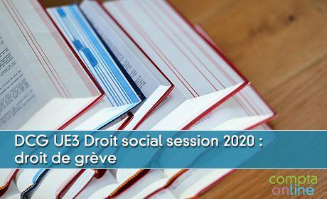 DCG UE3 Droit social session 2020 : droit de grève