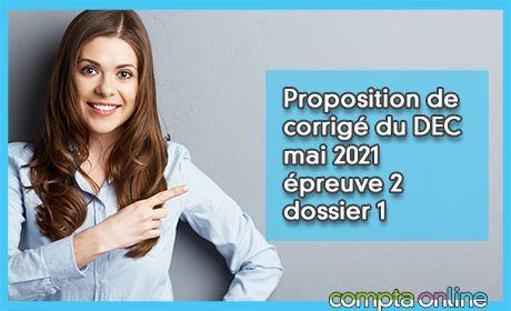 Proposition de corrigé du DEC mai 2021 épreuve 2 - dossier SAS Les vendangeurs du Revermont