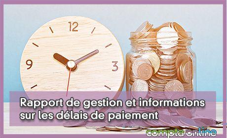 Rapport de gestion et informations sur les délais de paiement