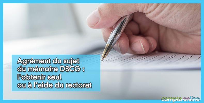 Fiche d'agrément DSCG