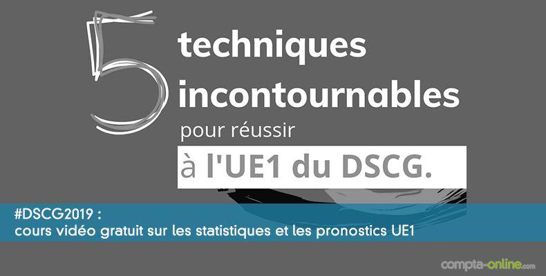 Cours vidéo gratuit sur les statistiques et les pronostics UE1 #DSCG2019