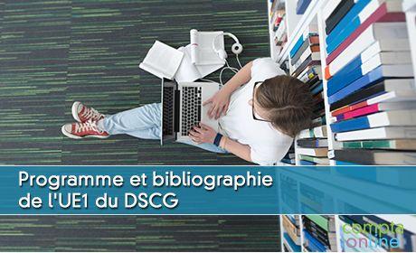 Programme et bibliographie de l'UE1 du DSCG