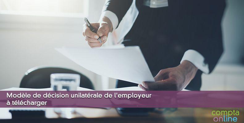 Modèle de décision unilatérale de l'employeur à télécharger