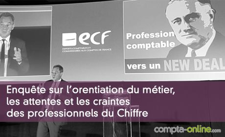 Enquête ECF sur l'orentiation du métier, les attentes et les craintes des professionnels du Chiffre