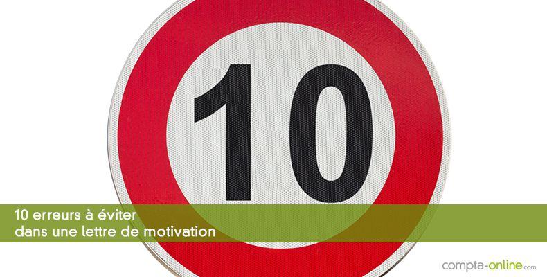 10 Erreurs A Eviter Dans Sa Lettre De Motivation