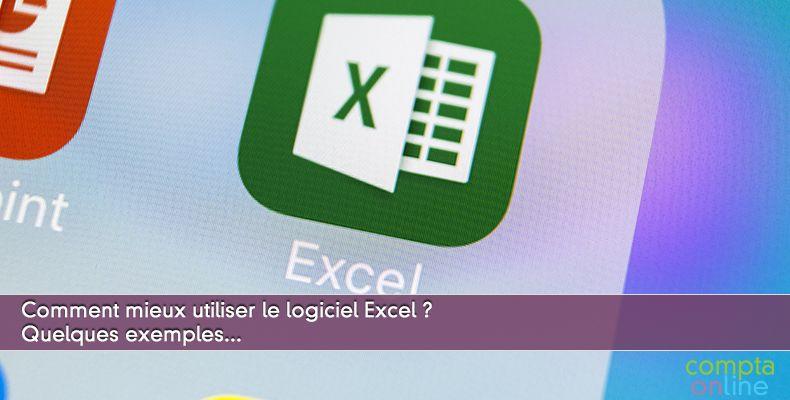 Mieux utiliser le logiciel Excel : quelques exemples