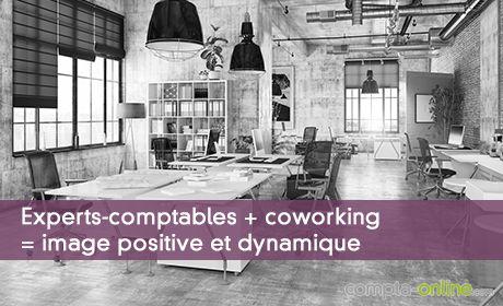 Experts-comptables + coworking  = image positive et dynamique