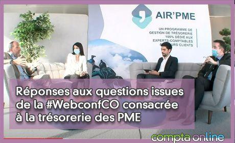 Réponses aux questions issues de la #WebconfCO consacrée à la trésorerie des PME