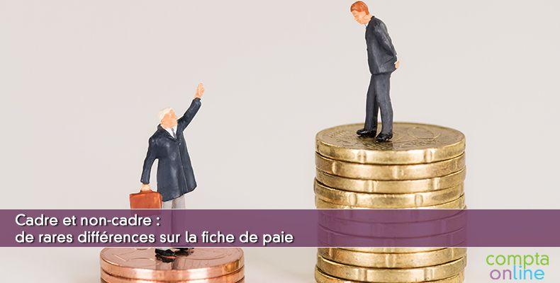 Fiche de paie cadre et non-cadre
