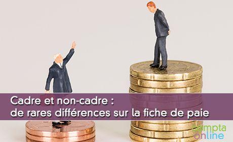 Cadre et non-cadre : de rares différences sur la fiche de paie