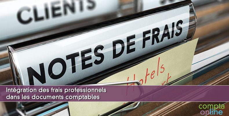 Intégration des frais professionnels dans les documents comptables