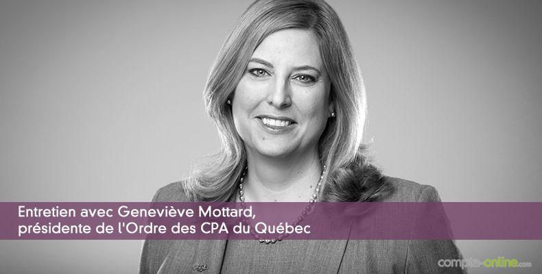 Geneviève Mottard, présidente de l'Ordre des CPA du Québec