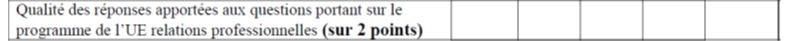 Notation des questions de l'UE 7 du DSCG