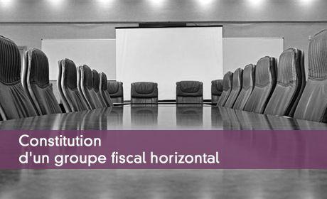 Constitution d'un groupe fiscal horizontal