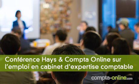Conférence Hays & Compta Online  sur l'emploi en cabinet d'expertise comptable