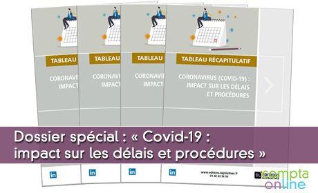 Dossier spécial : « Crise sanitaire : impact sur les délais et procédures »