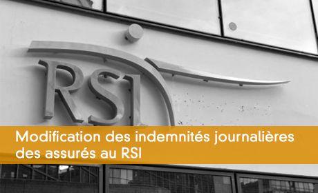 Modification des indemnités journalières des assurés au RSI