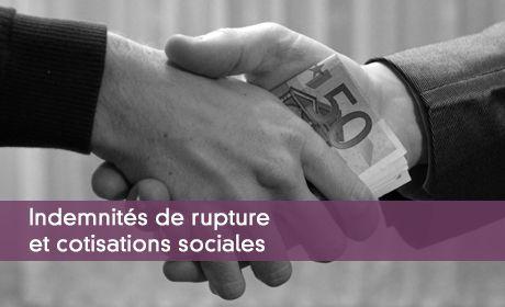 Aspects Sociaux Des Indemnites De Rupture Cotisations Csg Crds
