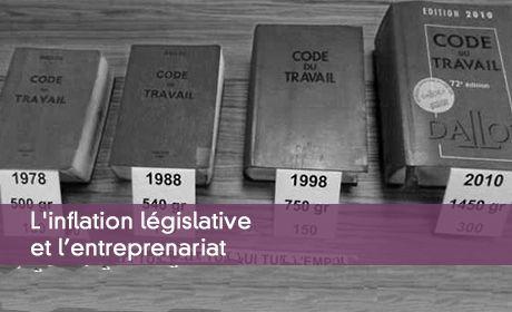 L'inflation législative et l'entreprenariat