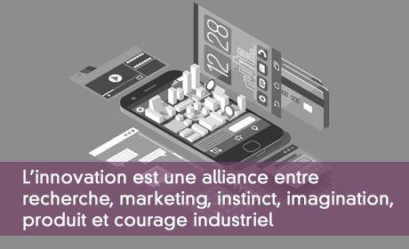 L'innovation est une alliance entre  recherche, marketing, instinct, imagination,  produit et courage industriel
