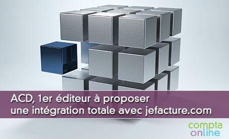 ACD, 1er éditeur à proposer une intégration totale avec jefacture.com