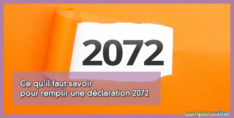 Déclaration 2072