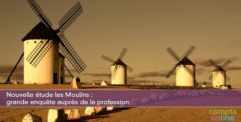 Nouvelle étude les Moulins : grande enquête auprès de la profession