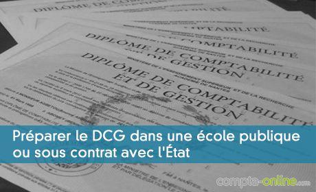 Préparer le DCG dans une école publique ou sous contrat avec l'État