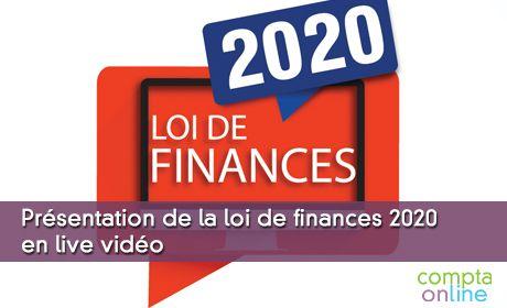 Présentation de la loi de finances 2020 en live