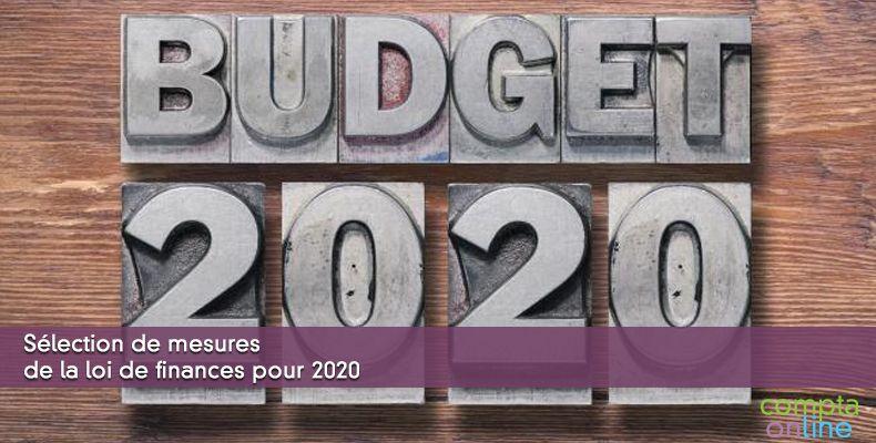 Sélection de mesures de la loi de finances pour 2020