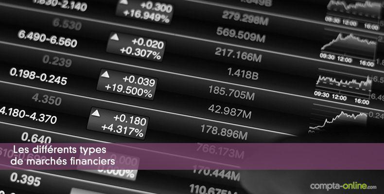 Les différents types de marchés financiers