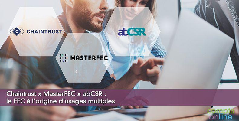 Chaintrust x MasterFEC x abCSR: le FEC à l'origine d'usages multiples