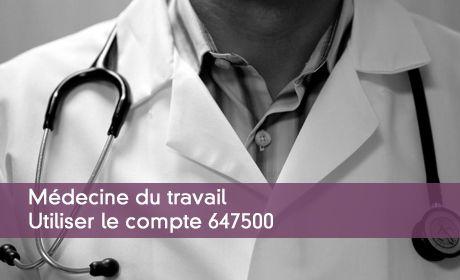 Comptabiliser les sommes dues à la médecine du travail
