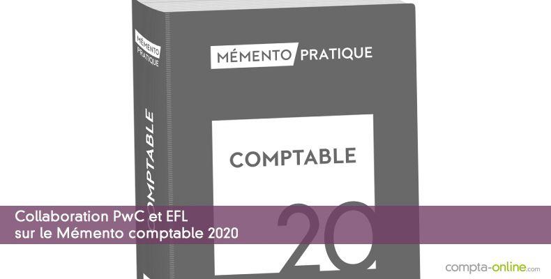 Collaboration PwC et EFL sur le Mémento comptable 2020