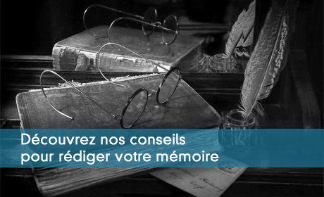 Conseils pour la rédaction du mémoire