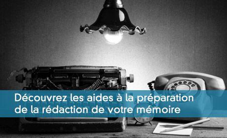 Les aides à la préparation de la rédaction du mémoire