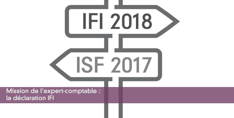 Mission de l'expert-comptable : déclaration IFI