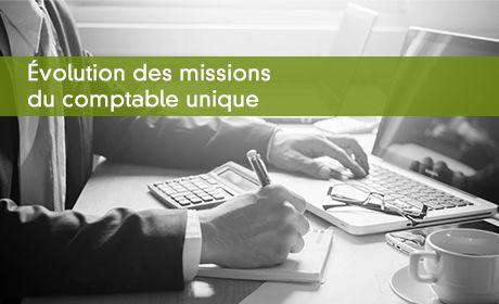 Évolution des missions du comptable unique