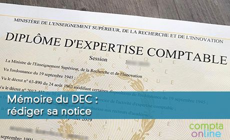 Mémoire du DEC : rédiger sa notice