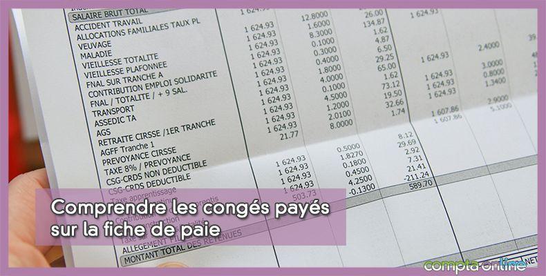 Congés payés sur la fiche de paie
