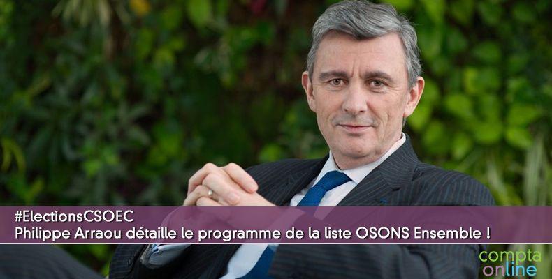 #ElectionsCSOEC Philippe Arraou détaille le programme de la liste OSONS Ensemble !