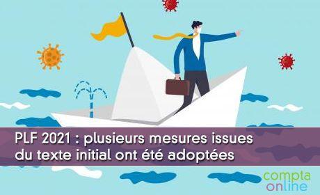 PLF 2021 : plusieurs mesures issues du texte initial ont été adoptées