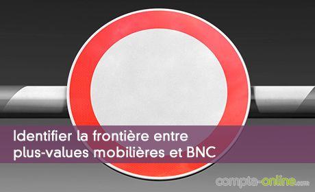 Identifier la frontière entre plus-values mobilières et BNC