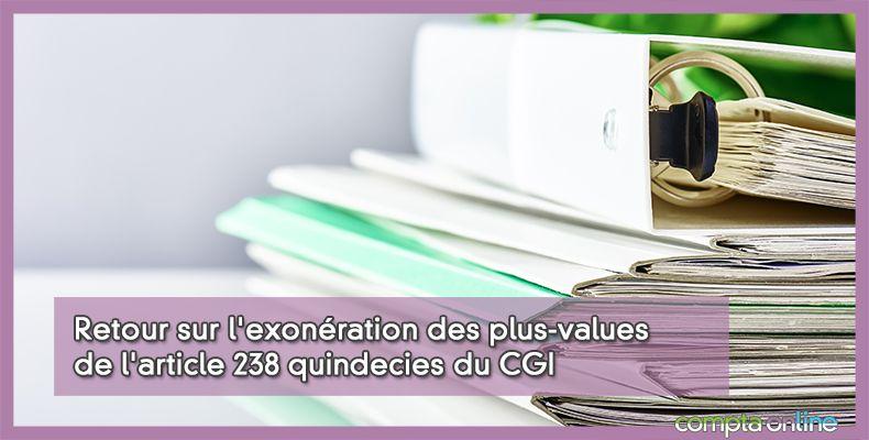 Plus-values professionnelles