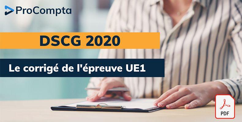 Corrigé DSCG 2020