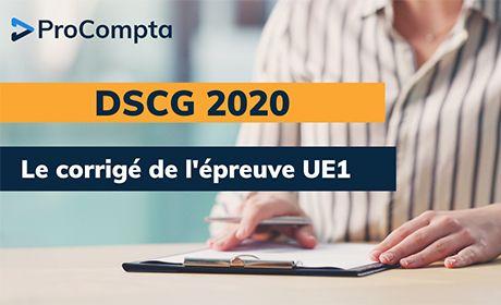 Corrigé DSCG 2020 UE1